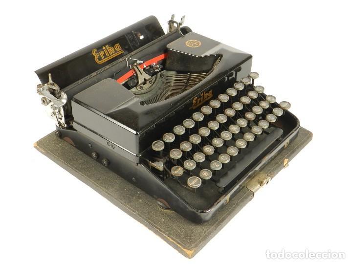 MAQUINA DE ESCRIBIR ERIKA 5 AÑO 1940 TYPEWRITER SCHREIBMASCHINE MACHINE A ECRIRE (Antigüedades - Técnicas - Máquinas de Escribir Antiguas - Erika)