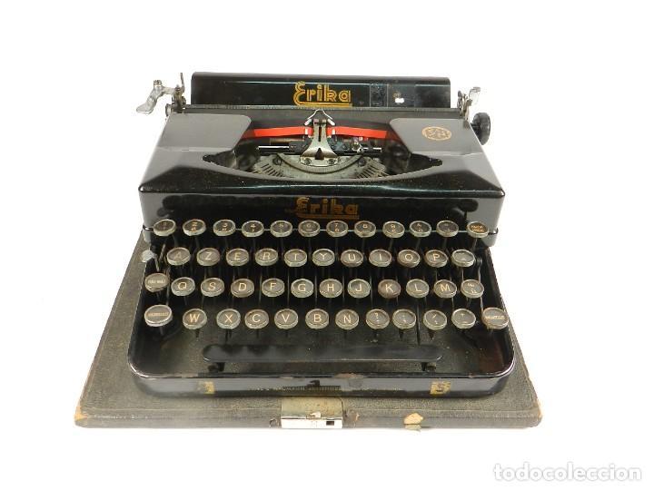 Antigüedades: MAQUINA DE ESCRIBIR ERIKA 5 AÑO 1940 TYPEWRITER SCHREIBMASCHINE MACHINE A ECRIRE - Foto 2 - 198401536