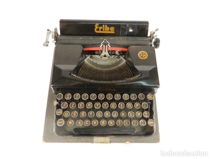 Antigüedades: MAQUINA DE ESCRIBIR ERIKA 5 AÑO 1940 TYPEWRITER SCHREIBMASCHINE MACHINE A ECRIRE - Foto 3 - 198401536