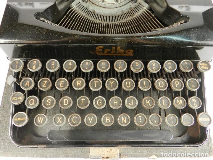 Antigüedades: MAQUINA DE ESCRIBIR ERIKA 5 AÑO 1940 TYPEWRITER SCHREIBMASCHINE MACHINE A ECRIRE - Foto 4 - 198401536