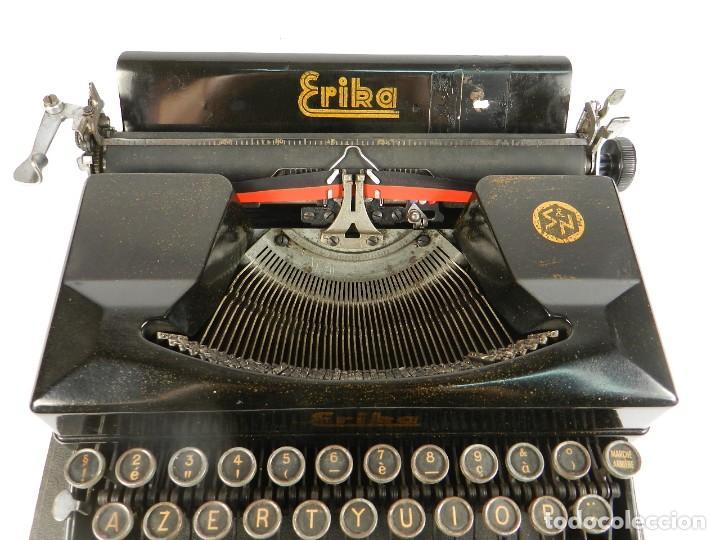 Antigüedades: MAQUINA DE ESCRIBIR ERIKA 5 AÑO 1940 TYPEWRITER SCHREIBMASCHINE MACHINE A ECRIRE - Foto 5 - 198401536
