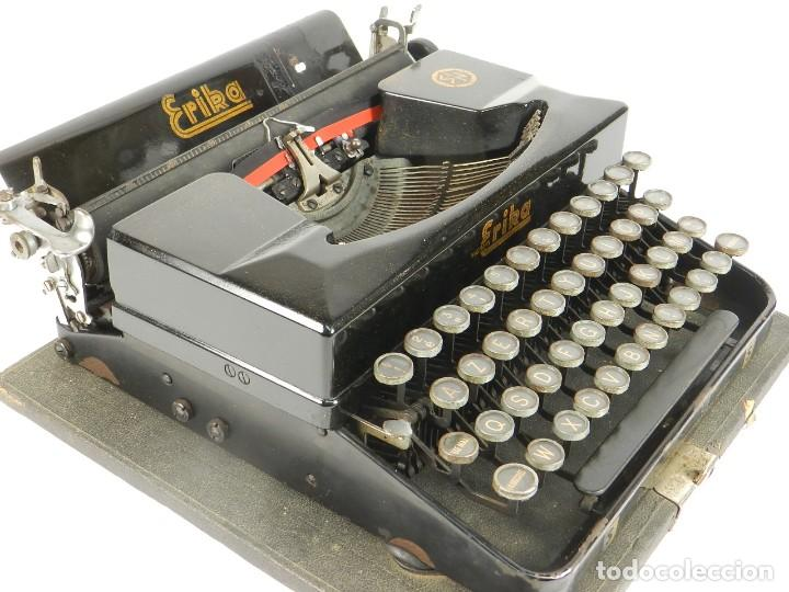 Antigüedades: MAQUINA DE ESCRIBIR ERIKA 5 AÑO 1940 TYPEWRITER SCHREIBMASCHINE MACHINE A ECRIRE - Foto 6 - 198401536