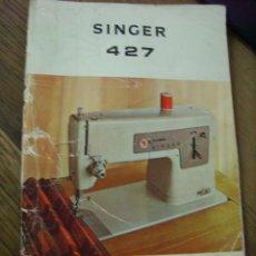 Antigüedades: MANUAL DE MAQUINA DE COSER SINGER 427.. Lote 198457060