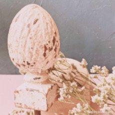 Antigüedades: GRAN TERMINAL ANTIGUO DE HIERRO MACIZO ANTIQUE UNIQUE. Lote 148612650