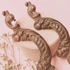 Antigüedades: ENORMES PRECIOSOS TIRADORES DE BRONCE (PRECIO 1 UNIDAD) ANTIQUE UNIQUE. Lote 148642594