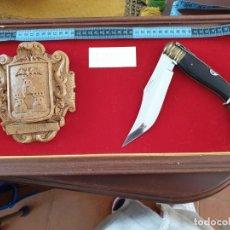 Antigüedades: GRAN NAVAJA ALBACETEÑA Y BLASON. Lote 198513165