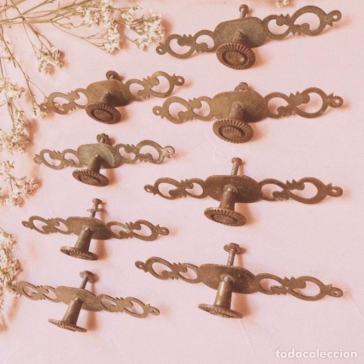 Antigüedades: Tiradores Originales Antiguos (PRECIO 1 UNIDAD) ANTIQUE UNIQUE - Foto 4 - 148579910
