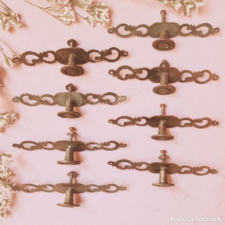 Antigüedades: Tiradores Originales Antiguos (PRECIO 1 UNIDAD) ANTIQUE UNIQUE - Foto 5 - 148579910