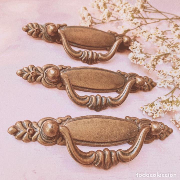 Antigüedades: LOTE de 3 Tiradores Antiguos Clásicos ANTIQUE UNIQUE - Foto 3 - 148592950