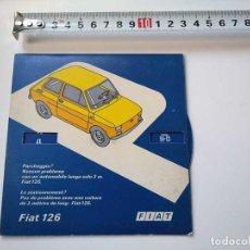 Oggetti Antichi: FIAT 126 ANTIGUO DISCO DE CONTROL DE APARCAMIENTO ESTACIONAMIENTO AÑOS 70. Lote 285133418