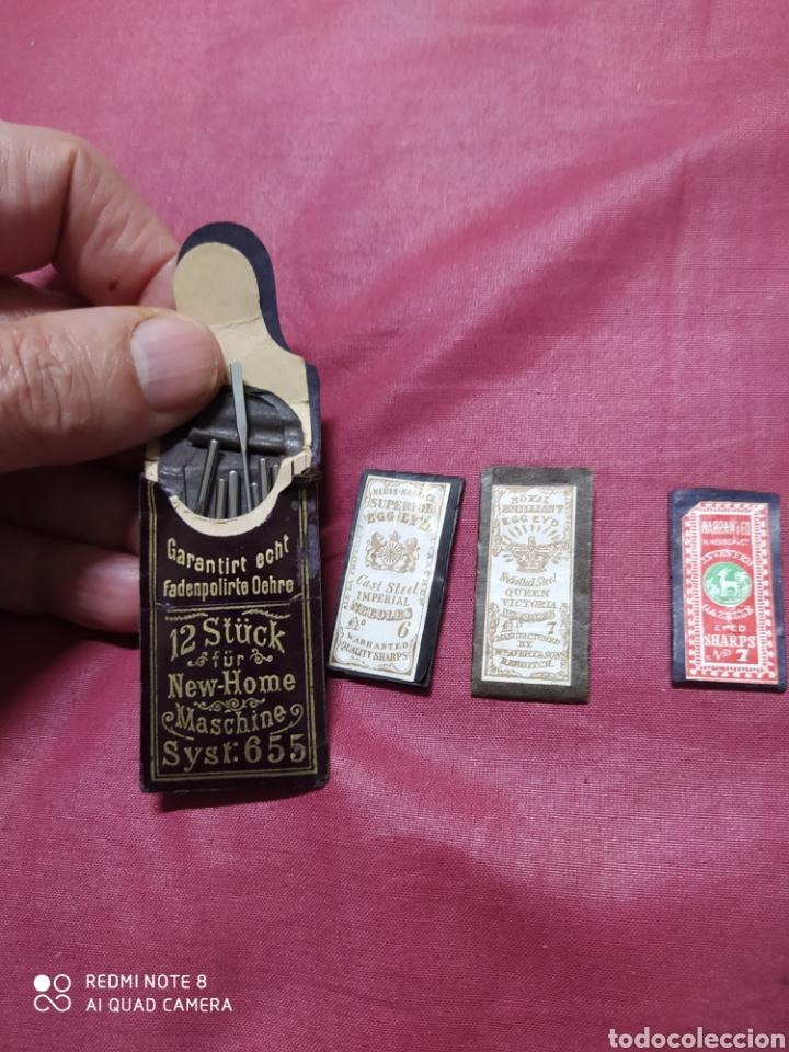 Antigüedades: Alfileres antiguos en su estuche original. - Foto 2 - 198553275