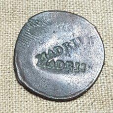 Antigüedades: RARO PONDERAL DE 1 GRAMO RESELLOS MADRID. Lote 198560510