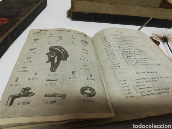 Antigüedades: ANTIGUA CAJA ENSERES O HERRAMIENTAS. SIGMA. MAQUINA COSER. LIBRO INSTRUCCIONES. - Foto 9 - 198566760