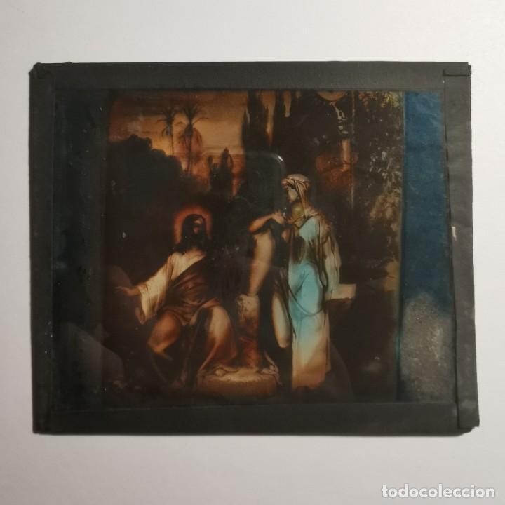 Antigüedades: ANTIGUO CRISTAL LINTERNA MAGICA RELIGIOSO SUPERBIA EL SANTO EVANGELIO PROYECCIONES BOSCH 10 X 8,5 CM - Foto 3 - 198593957