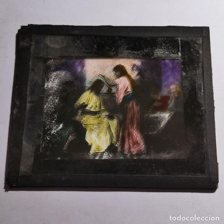Antigüedades: ANTIGUO CRISTAL LINTERNA MAGICA RELIGIOSO SUPERBIA EL SANTO EVANGELIO PROYECCIONES BOSCH 10 X 8,5 CM - Foto 3 - 198598401
