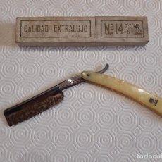 Antigüedades: NAVAJA DE AFEITAR PALMERA. CALIDAD EXTRALUJO Nº14 7/8. 26CM ABIERTA Y 16CM CERRADA. LEER.. Lote 198602216