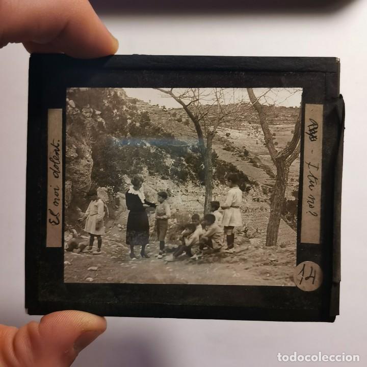 Antigüedades: ANTIGUO CRISTAL LINTERNA MAGICA - EL NOI DOLENT - JOSEP Mª FOLCH TORRES - PRECINEMA - 10X8,5 CM - Foto 2 - 198618893