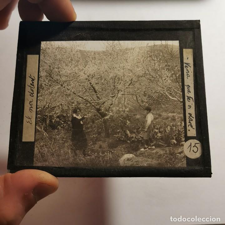 Antigüedades: ANTIGUO CRISTAL LINTERNA MAGICA - EL NOI DOLENT - JOSEP Mª FOLCH TORRES - PRECINEMA - 10X8,5 CM - Foto 2 - 198619042
