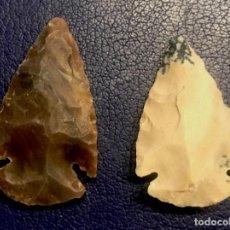 Antigüedades: FLECHAS DE PIEDRA. Lote 198729850