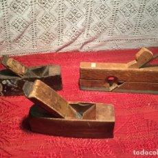 Antigüedades: ANTIGUAS 3 GARLOPA / GARLOPAS / RIBOT DE CARPINTERO DE LOS AÑOS 40-50. Lote 198732516