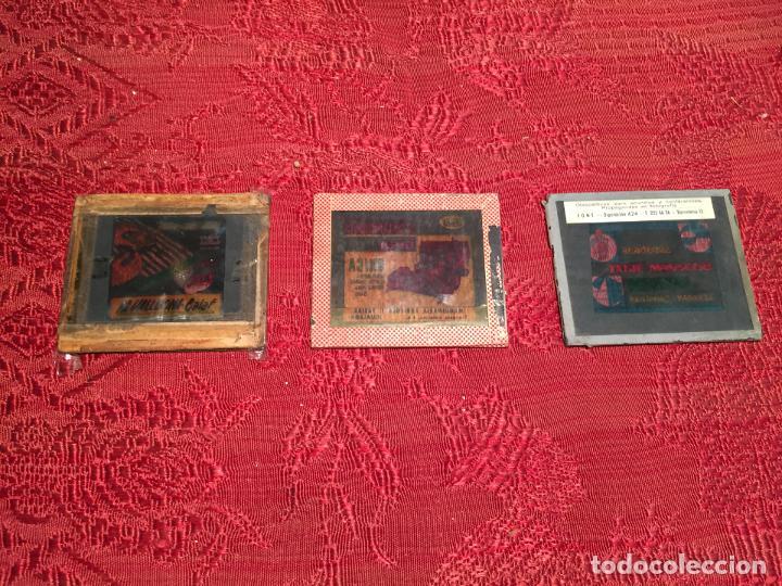 ANTIGUOS 3 CLICHÉ PUBLICITARIOS COLCHONES FLEX, ACADEMIA TATJÉ- MASSEGÚ MANRESA AÑOS 60 (Antigüedades - Técnicas - Herramientas Antiguas - Otras profesiones)