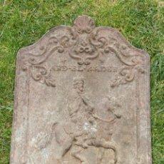 Antigüedades: PLACA CHIMENEA TRASFUEGO AÑO 1900. Lote 198749991