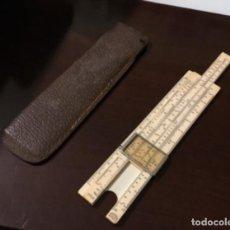 Antigüedades: ANTIGUA REGLA DE CALCULO FRANCESA CON FUNDA. Lote 198769472