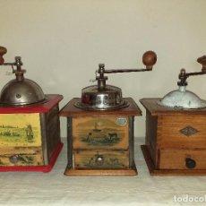 Antigüedades: 3 MOLINOS MOLINILLOS DE CAFE DE LA FIRMA FRANCESA E.G. EDMOND GRULET.. Lote 198827386