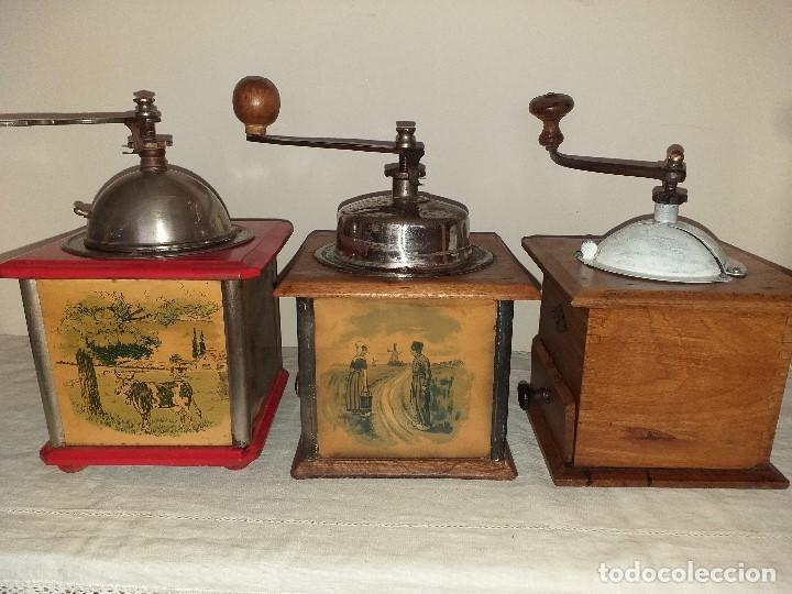 Antigüedades: 3 Molinos molinillos de cafe de la firma francesa E.G. Edmond Grulet. - Foto 2 - 198827386