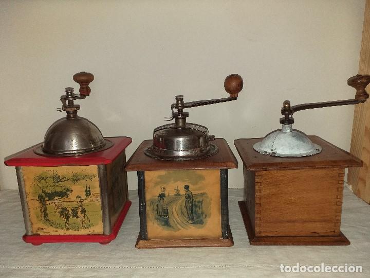 Antigüedades: 3 Molinos molinillos de cafe de la firma francesa E.G. Edmond Grulet. - Foto 3 - 198827386