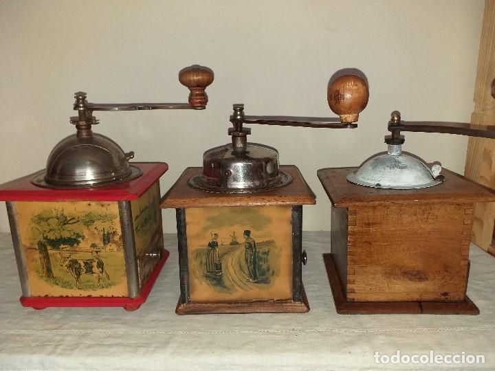 Antigüedades: 3 Molinos molinillos de cafe de la firma francesa E.G. Edmond Grulet. - Foto 4 - 198827386