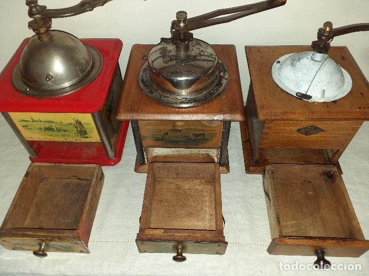 Antigüedades: 3 Molinos molinillos de cafe de la firma francesa E.G. Edmond Grulet. - Foto 9 - 198827386