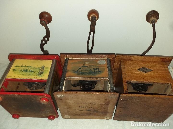Antigüedades: 3 Molinos molinillos de cafe de la firma francesa E.G. Edmond Grulet. - Foto 10 - 198827386