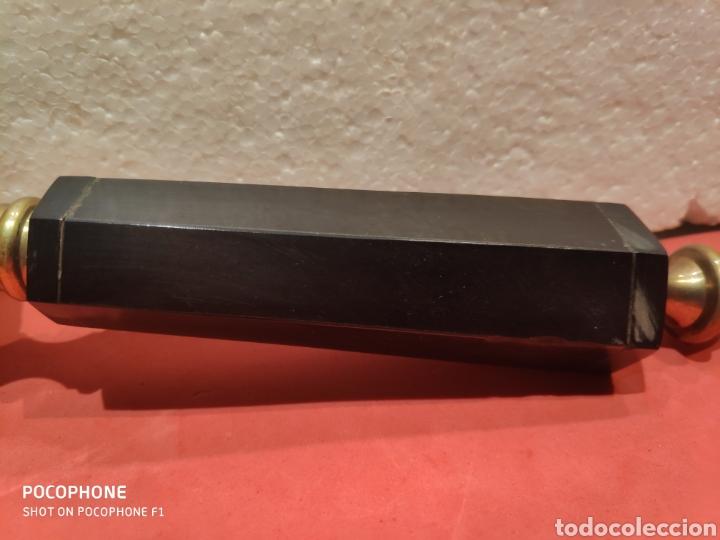 Antigüedades: Gran lupa con mango en asta y latón - Foto 3 - 198849568