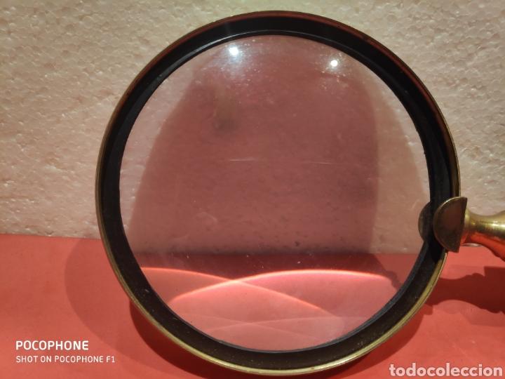 Antigüedades: Gran lupa con mango en asta y latón - Foto 4 - 198849568