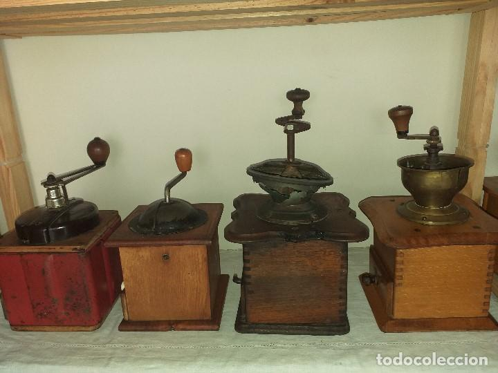Antigüedades: 4 Molino Molinillo de cafe antiguos, (peugeot freres, peter dienes, .......) - Foto 2 - 198899676
