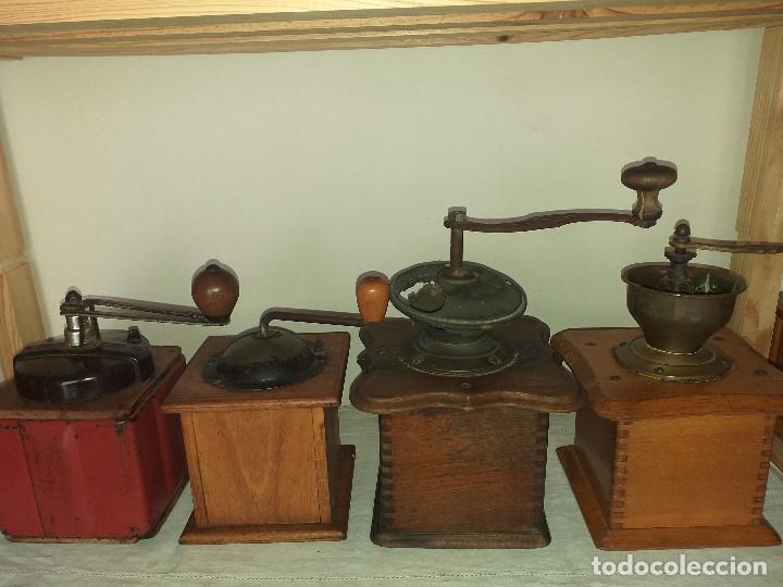 Antigüedades: 4 Molino Molinillo de cafe antiguos, (peugeot freres, peter dienes, .......) - Foto 3 - 198899676