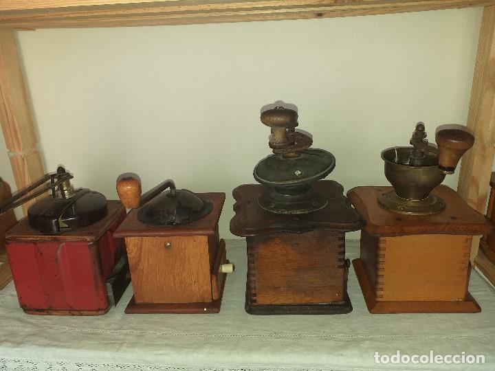 Antigüedades: 4 Molino Molinillo de cafe antiguos, (peugeot freres, peter dienes, .......) - Foto 4 - 198899676