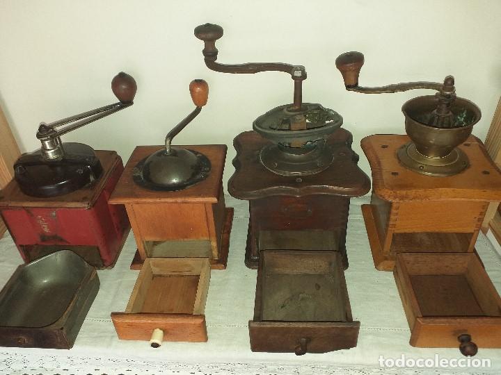 Antigüedades: 4 Molino Molinillo de cafe antiguos, (peugeot freres, peter dienes, .......) - Foto 5 - 198899676