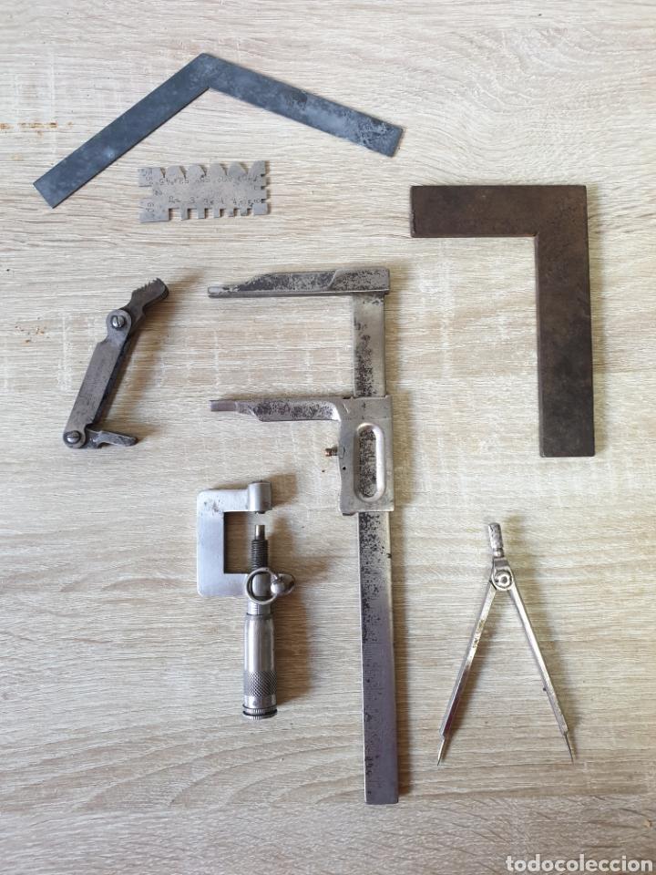 HERRAMIENTAS DE TORNERO (Antigüedades - Técnicas - Herramientas Profesionales - Mecánica)