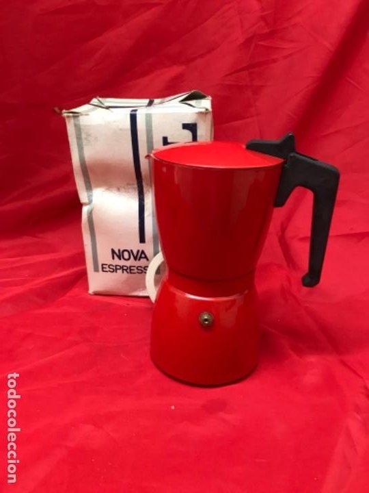 Antigüedades: Irmel cafetera nova express coffeepot rojo nueva vintag coffee maker italiana de coleccion nueva - Foto 7 - 199085375