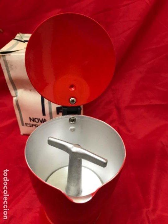 Antigüedades: Irmel cafetera nova express coffeepot rojo nueva vintag coffee maker italiana de coleccion nueva - Foto 14 - 199085375