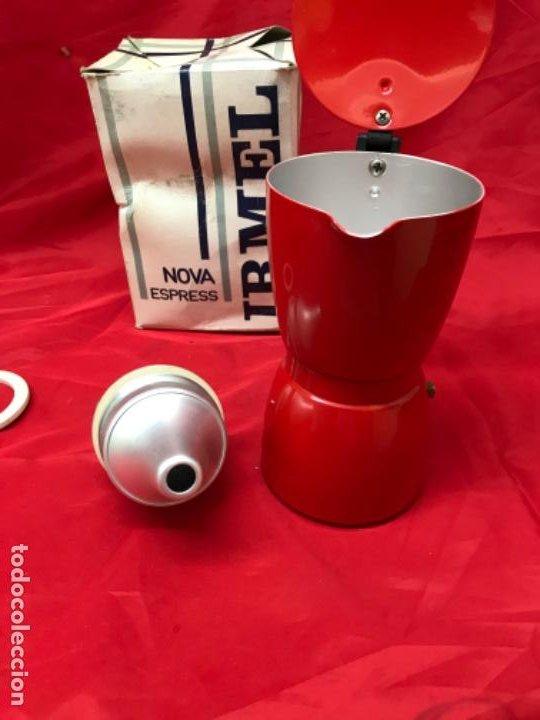Antigüedades: Irmel cafetera nova express coffeepot rojo nueva vintag coffee maker italiana de coleccion nueva - Foto 17 - 199085375