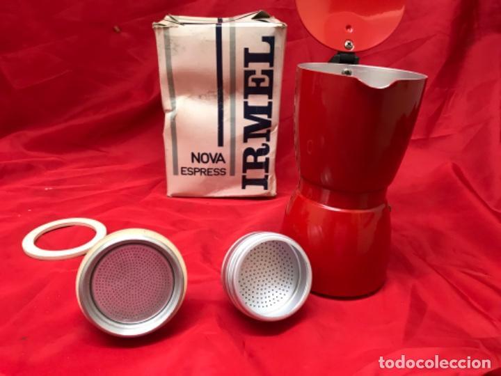 Antigüedades: Irmel cafetera nova express coffeepot rojo nueva vintag coffee maker italiana de coleccion nueva - Foto 21 - 199085375