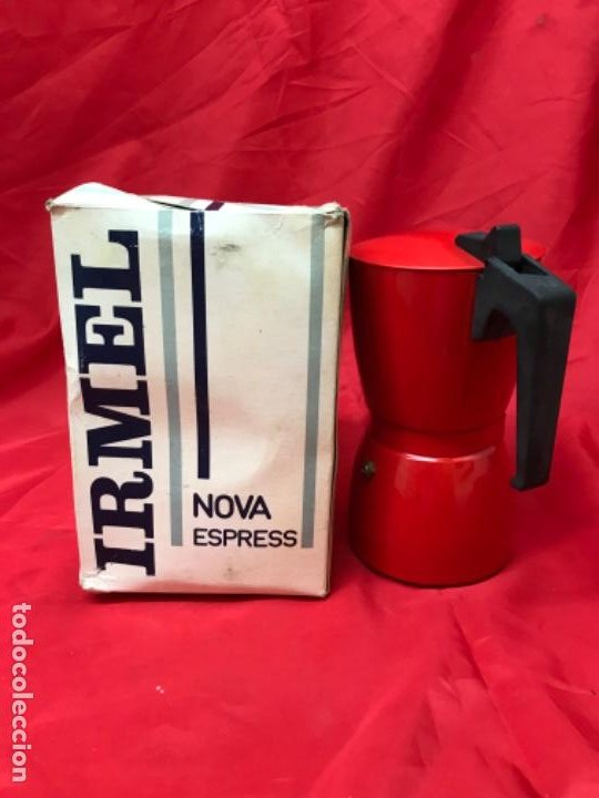 Antigüedades: Irmel cafetera nova express coffeepot rojo nueva vintag coffee maker italiana de coleccion nueva - Foto 28 - 199085375