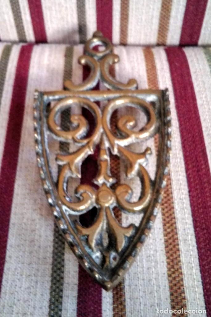 Antigüedades: ANTIGUA PLANCHA DE BRONCE CON SU SOPORTE - Foto 3 - 199223041