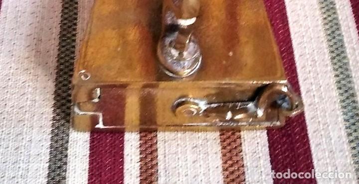 Antigüedades: ANTIGUA PLANCHA DE BRONCE CON SU SOPORTE - Foto 8 - 199223041