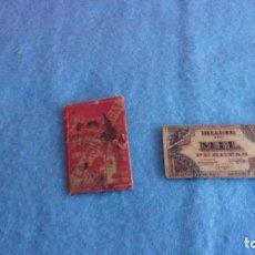 Antigüedades: 2 CUCHILLAS AFEITAR,UNA BILLETE MIL PESETAS,OTRA LA MONSERRAT. Lote 199268092