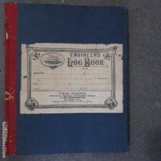 Antigüedades: LIBRO DE MAQUINISTA DE BARCO DE VAPOR SIGLO XIX. Lote 199280678