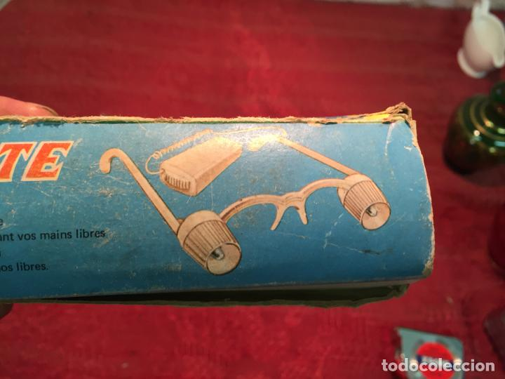 Antigüedades: Antiguas curiosas gafas marca Luminite con caja original años 60 - Foto 8 - 199333373